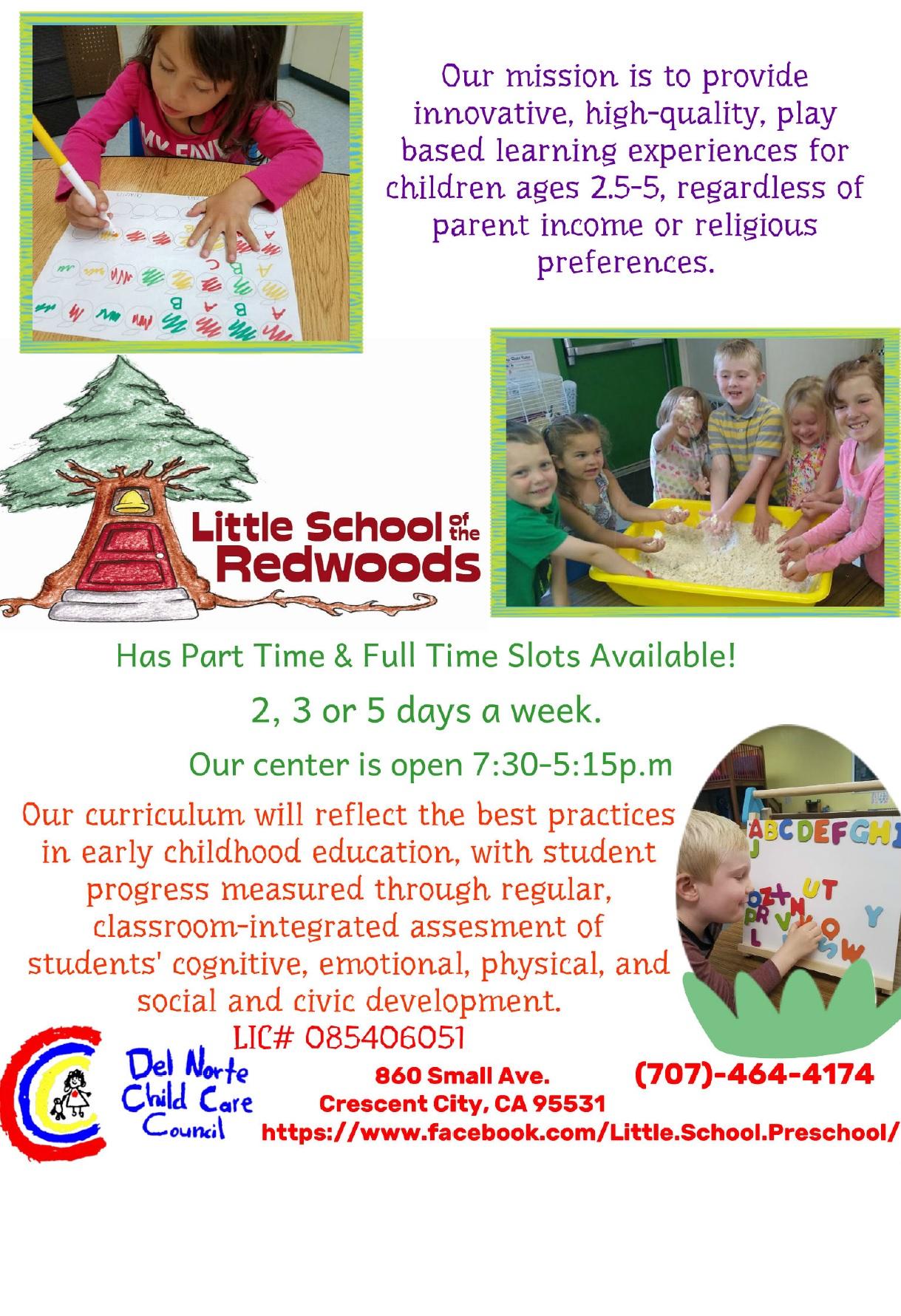 Little School Of The Redwoods Preschool Del Norte Child