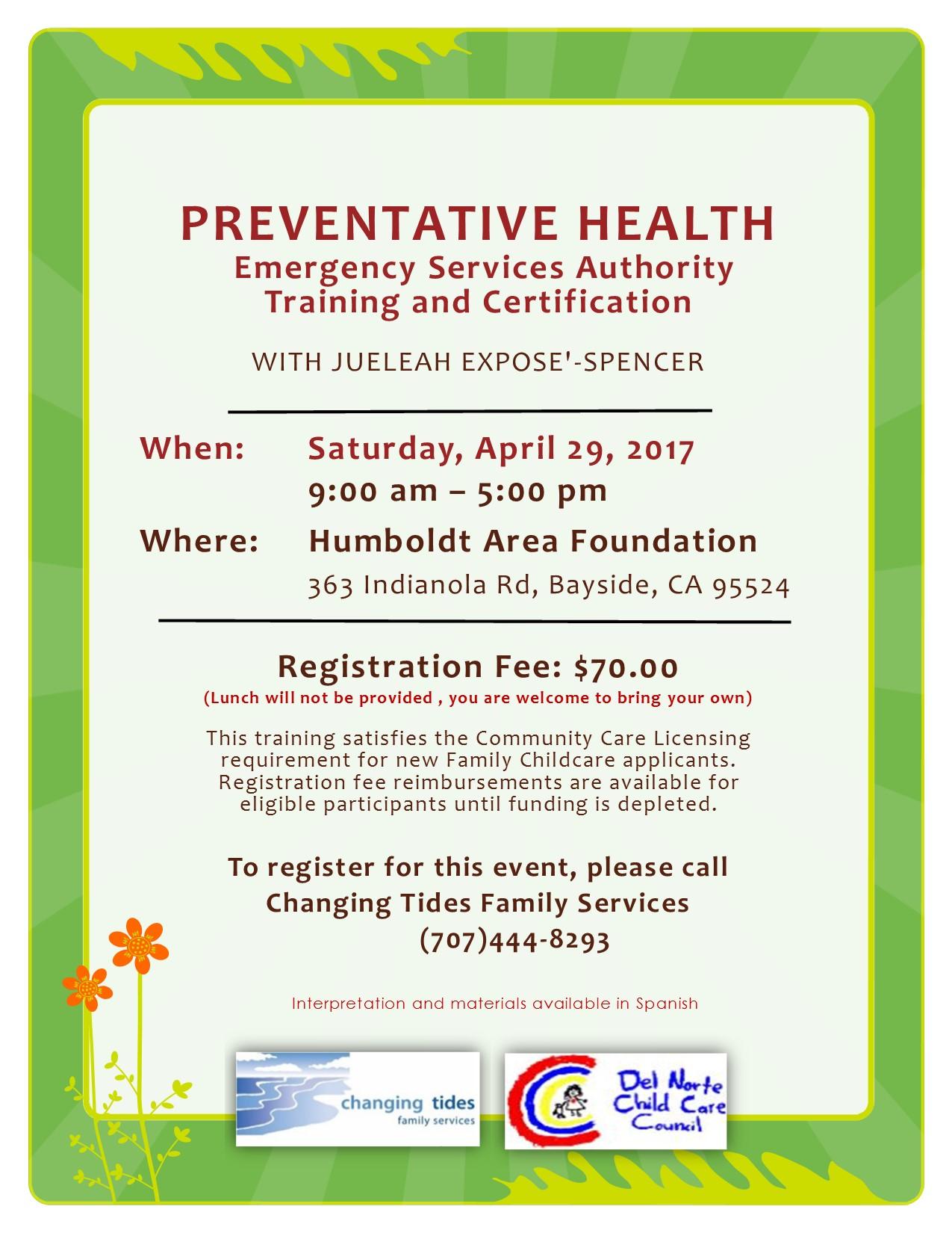 Car Care Center >> Preventative Health Flyer English - Del Norte Child Care ...